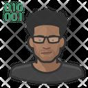 Asian Male Black Programmer Computer Programmer Icon