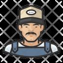 Asian Male Farmhand Icon