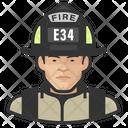 Asian Male Firefighter Male Firefighter Firefighter Icon