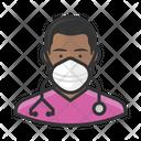 Avatar Nurse Black Icon