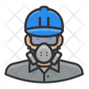 Asian Male Worker Asbestos Asian Icon