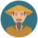 Elderly Asian Man Icon