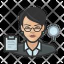 Asian Woman Accountant Asian Accountant Asian Icon