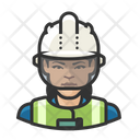 Asian Woman Worker Construction Worker Icon