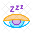 Asleep Closed Concept Icon
