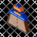 Road Repair Paver Icon