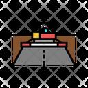 Asphalt Paver Machine Icon