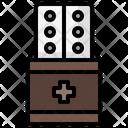 Aspirin Bister Medicine Packet Icon