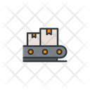 Assembly Conveyor Belt Delivery Boxes Icon