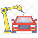 Production Line Assembly Line Assembly Car Icon