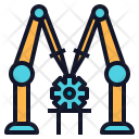 Assembly Machine Robot Icon