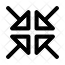 Arrow Midpoint Point Icon