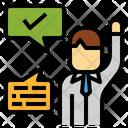 Assertiveness Meeting Idea Icon