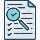 Assessment Document Evaluation Icon