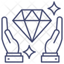 Diamond Protection Care Asset Icon