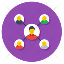 Association User Network User Connected Icon