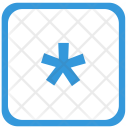 Asterisk Sign Keyboard Icon