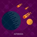 Asteroids Galaxy Education Icon