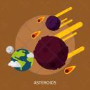 Asteroids Space Universe Icon