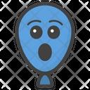 Astonished Balloon Balloon Face Emoticon Icon