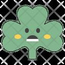 Astonished Coriander Face Coriander Face Emoticon Icon