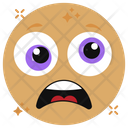 Astonished Emoji Astonished Emoticon Shocked Emoji Icon