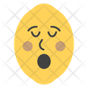 Astonished Lemon Face Icon