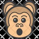 Astonished Monkey Face Emoji Emoticon Icon