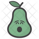 Astonished Pear Face Icon
