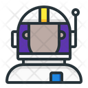 Astronaut Space Helmet Icon