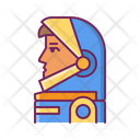 Astronaut Full Face And Profile Helmet Icon