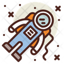 Astronaut Space Man Robot Icon