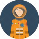 Astronaut Spaceman Science Icon