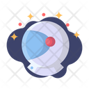 Helmet Astronaut Galaxy Icon