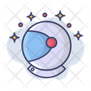 Helmet Astronaut Galaxy Icon