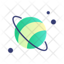 Astronomy Saturn Space Icon