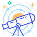 Astronomy Telescope Spaceman Icon