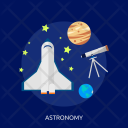 Astronomy Education Science Icon