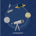 Astronomy Galaxy Education Icon