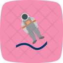 Astronout Landing Icon