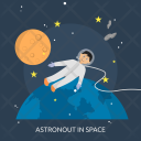 Astronout Galaxy Education Icon