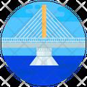 Aswan Bridge Cable Stayed Bridge Footbridge Icon