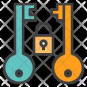 Asymmetric Encryption Key Icon