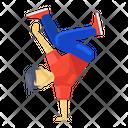 Athlete Aerobics Dance Icon