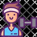 Athlete Fitness Exercise Icon