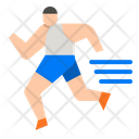 Athletic Runner Athletic Race Icon