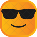 Atitude Glasses Face Icon
