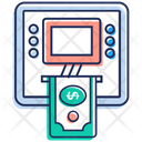 Atm Automated Teller Machine Instant Banking Icon