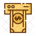 Cash Withdrawal Withdrawal Atm Mahcine Icon