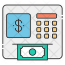 Atm Automated Teller Machine Cash Withdrawal Icon